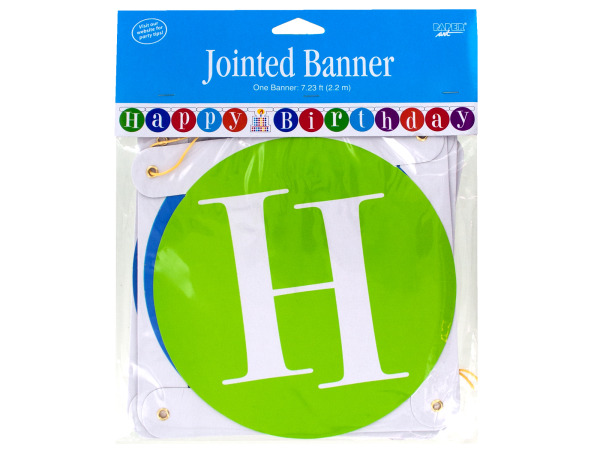 7.23 ft happy birthday jointed banner