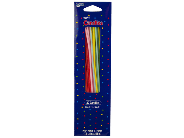 20 pack 7.812 x .125 party candles