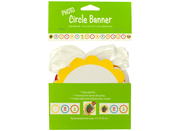 1st birthday celebration photo circle banner 5 ft 8 inch