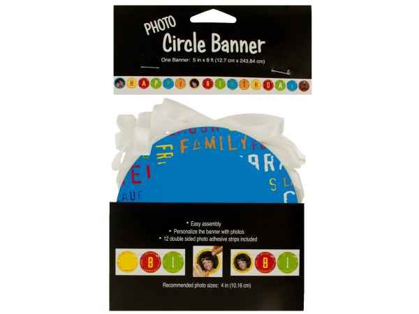 photo circle banner birthday fun 5 in. x 8 ft.
