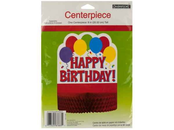 8 inch happy birthday centerpiece