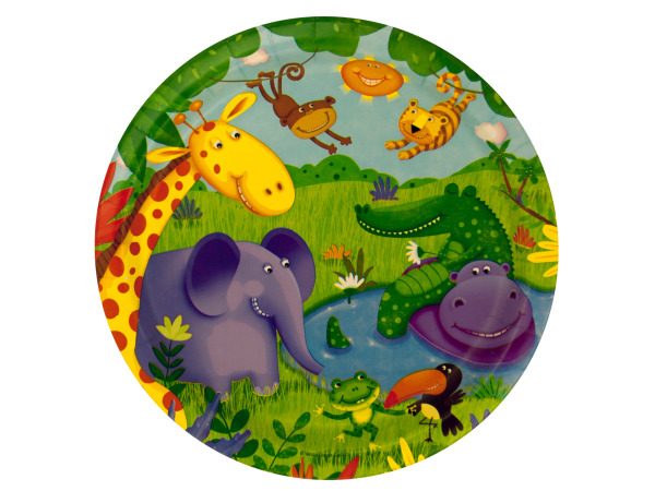 8 pack jungle buddies plates 8 3/4 inch
