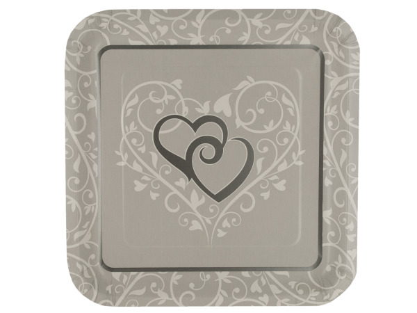 24 pack wedded bliss plates 9 1/8 inch