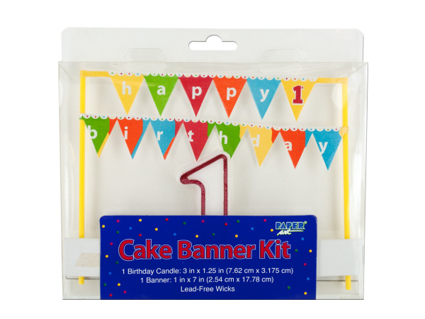cake banner kit 1st birthday