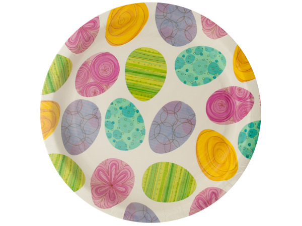 Happy Egg Hunt Round Plates Set