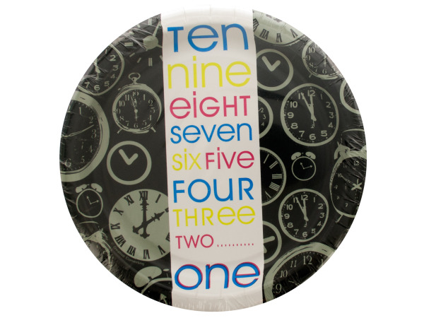 New Year Countdown Plates Set