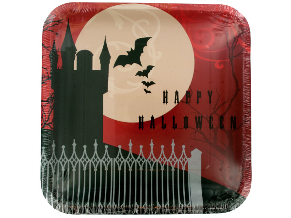 Frightful Night Square Dinner Plates Set