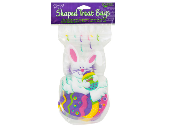Easter Bunny Cello Zipper Treat Bags