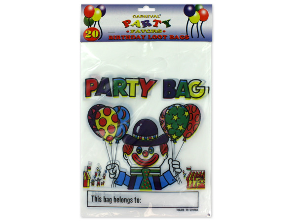 Carnival-theme birthday loot bags