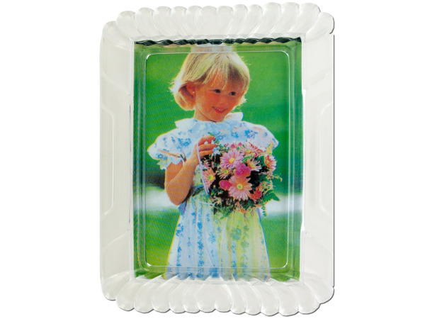 Clear Photo Frame with Hearts Design