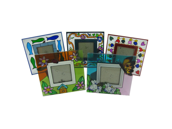 Flower design glass frame, 6 designs