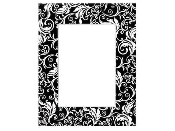 Black and White Flourishes Photo Mat