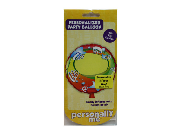 Large party balloon, can be personalized