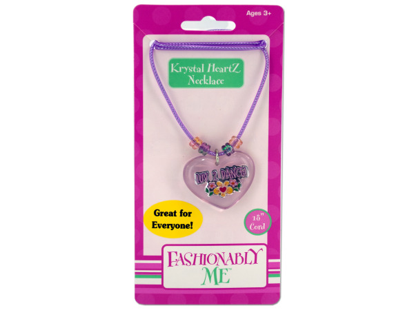 """Luv 2 Dance"" heart necklace"