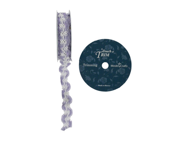 Lilac braided ribbon spool, 18 feet