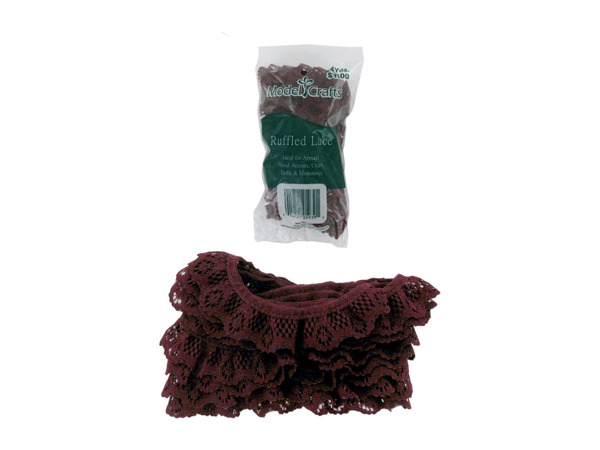 Cranberry-Colored Lace for Crafting or Sewing