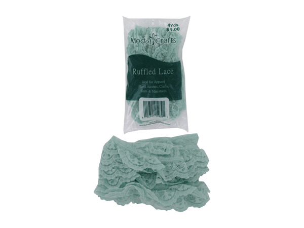 Ruffled lace edging ideal for crafting, sewing