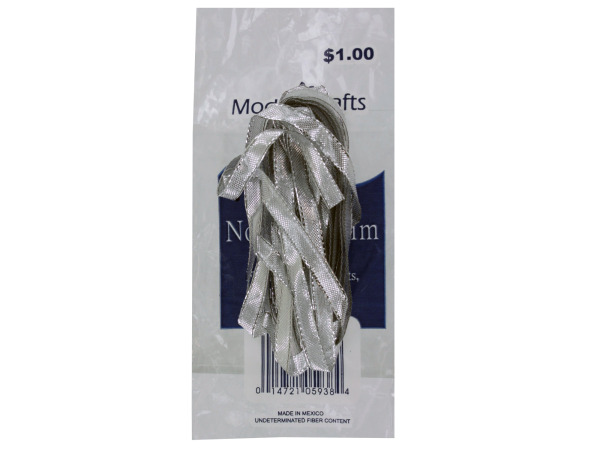 silver thin flat novelty trim in bag