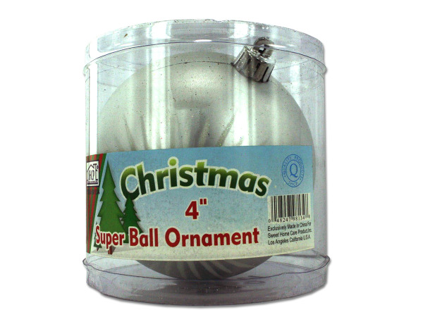Silver ball ornament, large