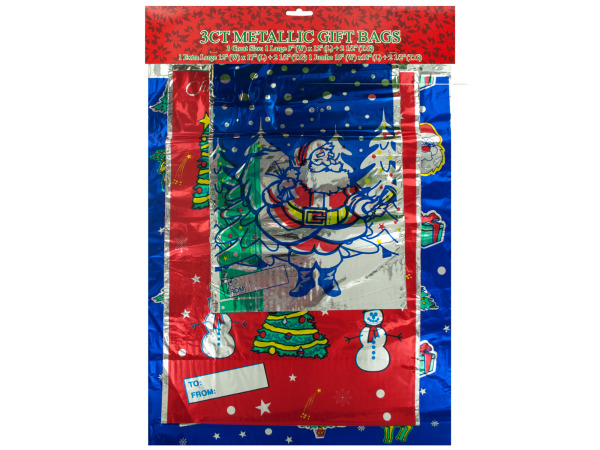 Metallic Christmas Gift Bags