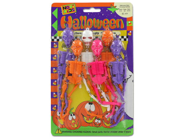 Dangling Halloween skeletons
