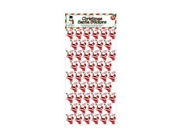 Santa stickers, pack of 50