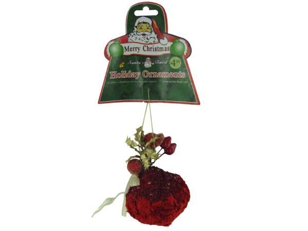 Velvet ornament with gems, assorted styles