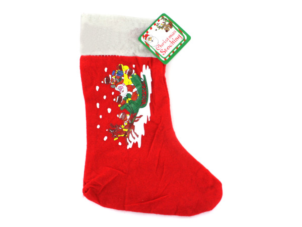 Choice of screen printed felt Christmas stockings