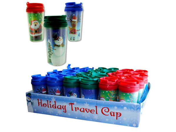 Holiday travel cup display