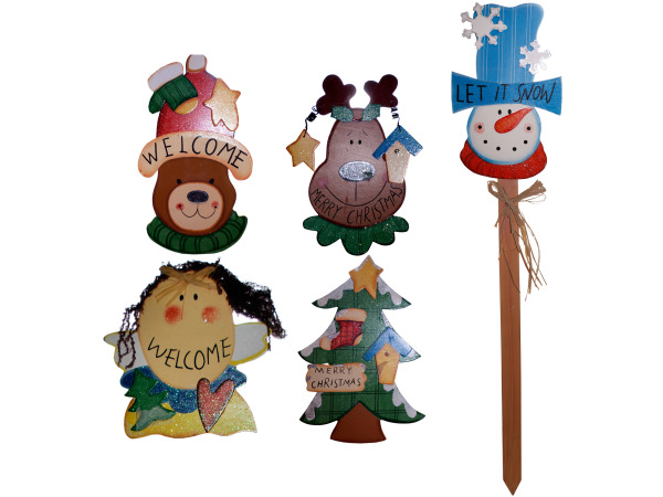 Christmas Yard Wood Stakes