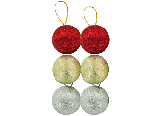 Silver / Gold / Red Christmas Ball Ornaments