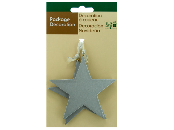Silver Stars Christmas Tree Gift Ornaments