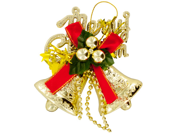 "4"" Christmas Bells Hanging Decoration"