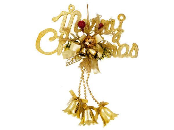"8"" Christmas Bells Hanging Decoration"