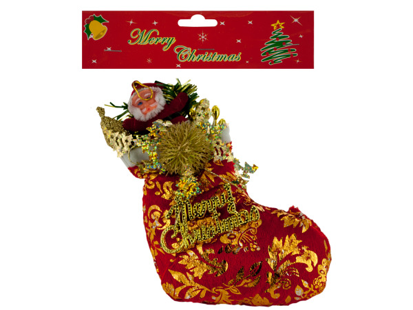 "8"" Santa Stocking Christmas Decor Ornament"