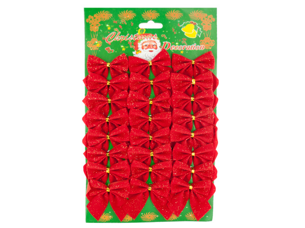 Christmas Bow Decorations Set
