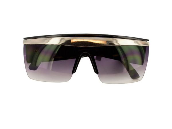 Black/Silver Paparazzi Shield Sunglasses