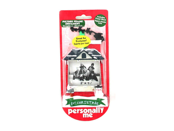 1st Christmas photo ornament frame