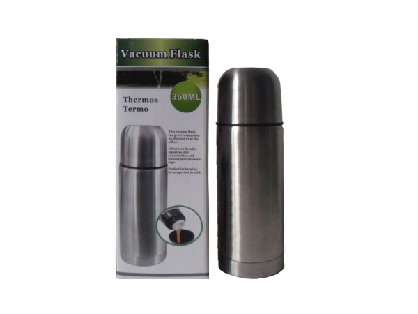 Double-wall stainless steel vacuum flask