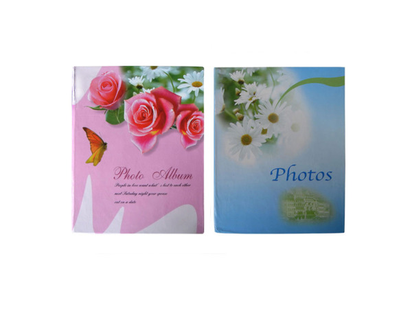 Floral cover photo album for 200 photos