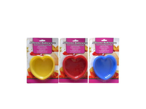 Silicone bakeware, heart shaped