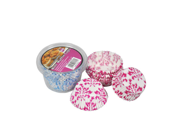 Mini muffin cups, pack of 100, two colors