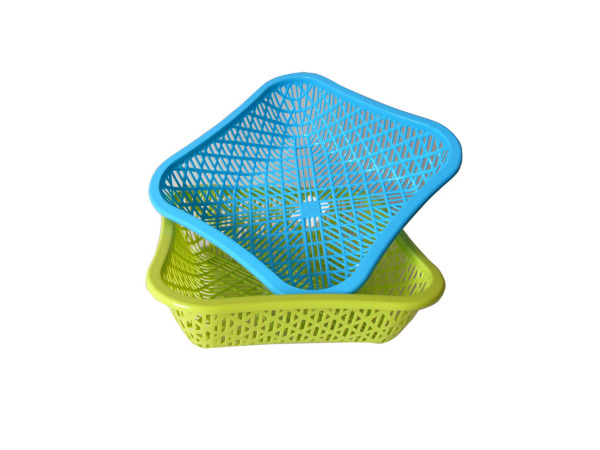 Square basket, assorted colors
