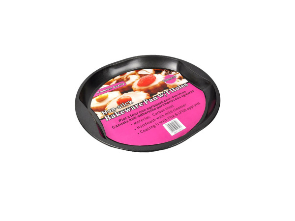 Round bakeware pan with holes
