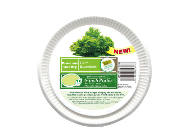 Paper plates, pack of 10