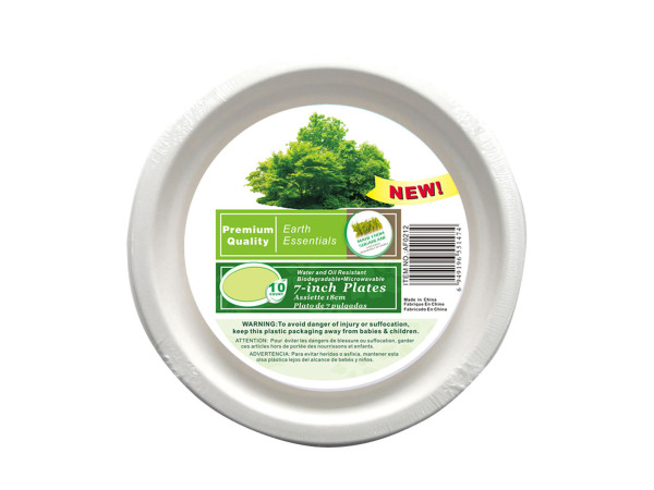Paper plates, pack of 10, 7""