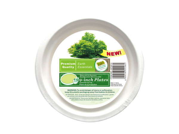 Paper plates, pack of 10, 9""
