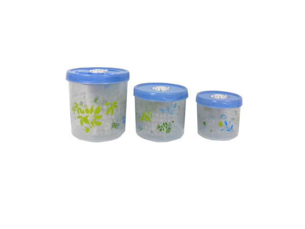 Decorative food containers, set of 3