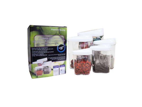 Deluxe 5-piece storage containers set