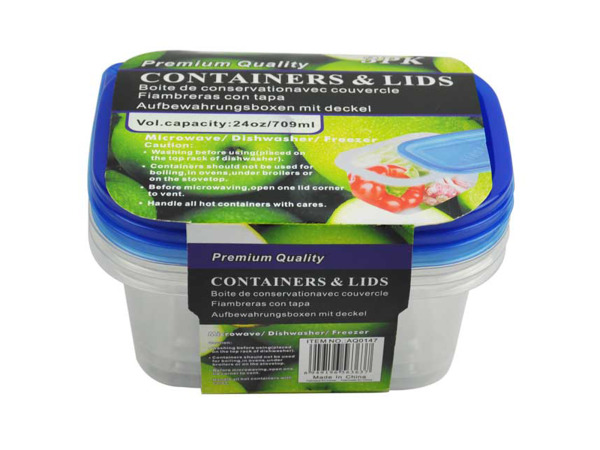 Storage containers, pack of 3